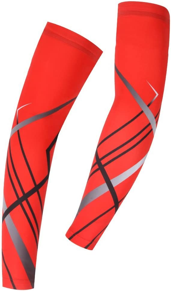 Spoz Pro Outdoor Sport Red Breathable Arm Sleeves Armlinge