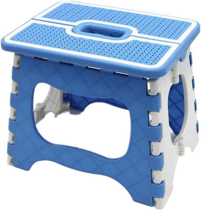 cineman – Taburete Plegable de plástico, portátil, para Camping, Escalera, para Cocina, jardín, baño, Camping, Azul, Large: Amazon.es: Hogar