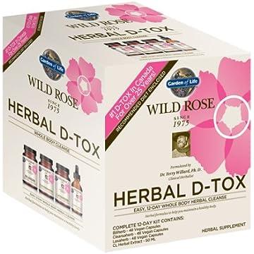 mini Garden of Life 12 Day Detox Cleanse - Wild Rose Herbal D-Tox Kit