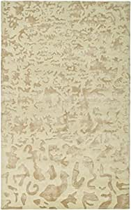 "Safavieh Soho Collection SOH525A Handmade Ivory Wool Area Rug, 3 feet 6 inches by 5 feet 6 inches (3'6"" x 5'6"")"