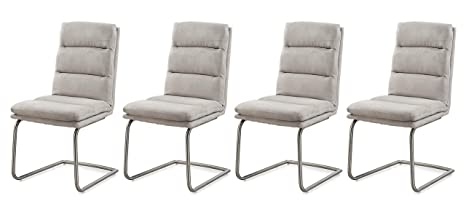 Lifestyle4living Stuhl In Microfaser Grau Designer Schwingstühle Im