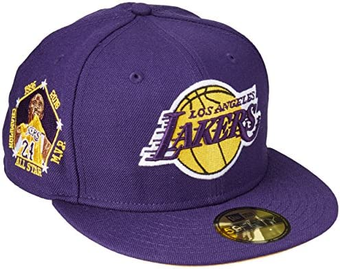 quite nice 6180c 2f256 New Era 59Fifty NBA Hat Los Angeles Lakers Kobe Bryant All Star Champion  Purple Fitted Cap