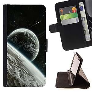 Momo Phone Case / Flip Funda de Cuero Case Cover - Estrellas Espacio Luna Planetas Tierra Cosmos extranjeros - Samsung Galaxy S6 Edge Plus / S6 Edge+ G928