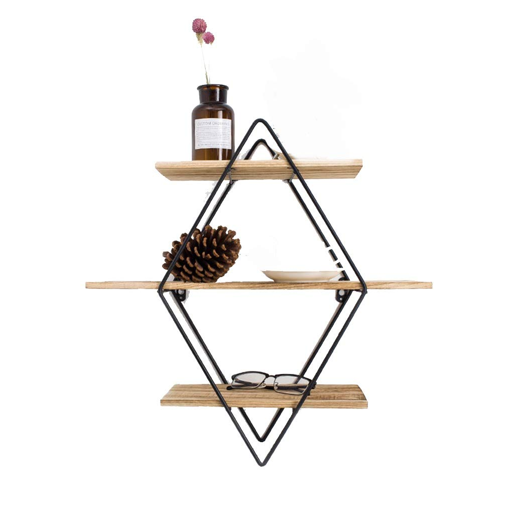 Shelf Home Multi-Layer Floating Shelves 3-Layer Floating Wall Bracket Shelves Books Shelves Rustic Wooden Hanging Shelves Storage Display Decoration Suitable for Bedroom Living Room Kitchen Office.