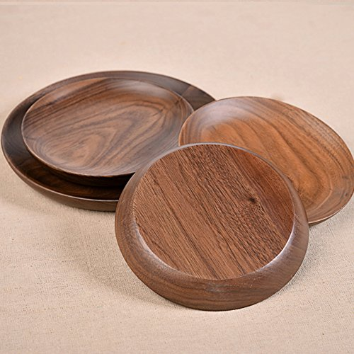 Solid Wood Round Compote Wooden Pallets Creative Fruit Bowl Wooden Bowls (Round Compote)