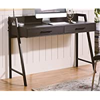 Homestar Rosalind Writing Desk with 2 Drawers in Dark Oak Finish