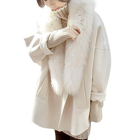 Femme Coat Trench Sanfashion FourrureManteau De Laine En Longue 45Aj3RLq