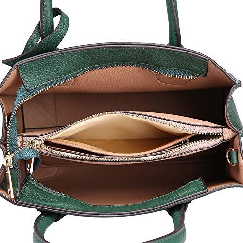 Tinta A Cm 21 Bag Vera moda Borsetta Capacità grande Donna Black Pelle Tracolla Unita 26 Borsa gray Xmyl 13 Tote qTt18xS