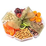 Nutty New Yorker Gourmet Food Fruit and Nuts Gift Basket, 4 Different Fruits and 3 Different Nuts - 21.5 Ounces - Kosher Certified