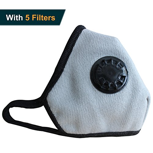 Respirator Replacement Filters - Anti Pollution Mask Military Grade N99 Respirator Mask with Valve Replacement Filter Washable Cotton Anti Dust Mouth Mask for Men Women Grey