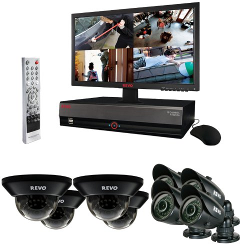 Revo Home/Business Video Monitoring Surveillance System DVR 16 Ch