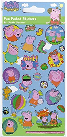 Official Peppa Pig Golden Boots Fun Foil Sticker Pack (95 x 195 mm) (Peppa Pig George Boots)