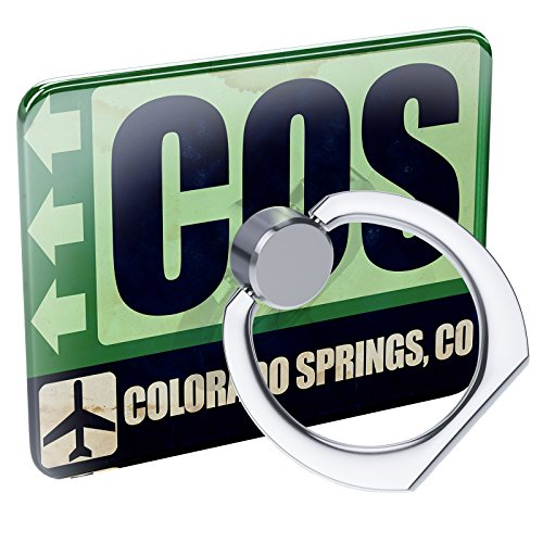 fe80c46503e1a Cell Phone Ring Holder Airportcode COS Colorado Springs, CO Collapsible  Grip & Stand Neonblond