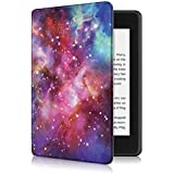PINHEN Book Case for Kindle Paperwhite 2018 10th Gen - PU Leather Smart Cover with Auto Wake/Sleep for Amazon Kindle(10th Generation-2018), Galactics