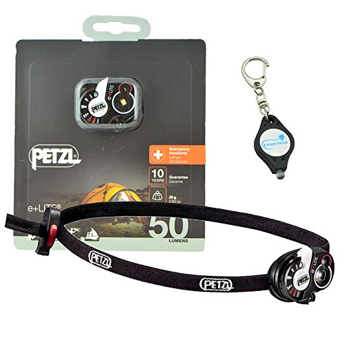 Petzl - e+LITE (E02 P4), 50 Lumens, Emergency Headlamp with Carry Case - Includes 1 Lumintrail Key-Chain Light ()