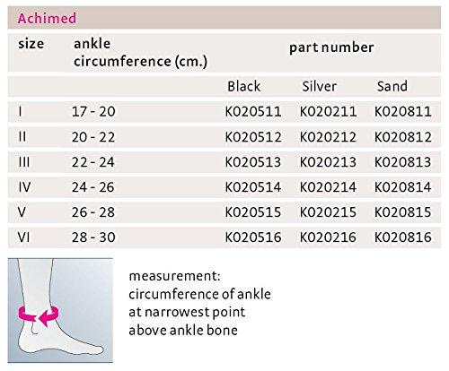 Medi Achimed Knit Ankle Support for Men & Women (Silver) Size I by Medi Ortho (Image #8)