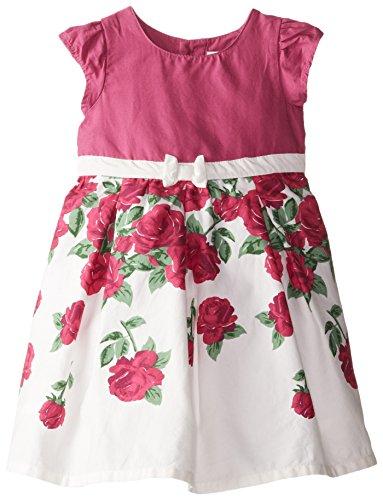 JoJo Maman Bebe Baby Girls' Rose Party Dress, Raspberry, 12 18 Months -