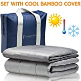 King Size Bed Blanket Set Snuggle Pro Weighted Blanket Adult - 20 lbs Heavy Blanket for Sleeping, 60