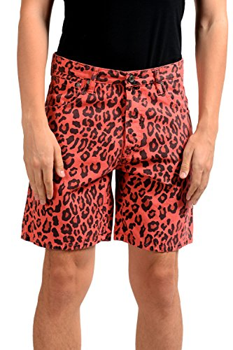 Just Cavalli Men's Animal Print Casual Shorts US S IT 48