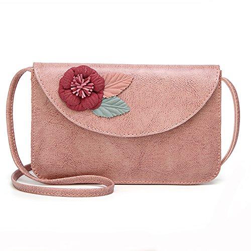 Pink Ladies Women PU Envelope Bag Clutch Small Leather Crossbody Fashion Purse Handbag Bag Women rqOtq