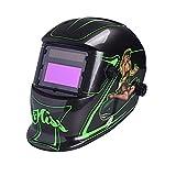 Nuzamas Solar Powered Auto Darkening Welding Helmet Mask Weld Face Protection for Arc Tig Mig Grinding Plasma Cutting with Adjustable Shade Range DIN4/9-13 UV/IV protection DIN16