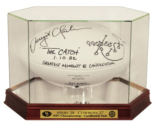 Dwight Clark Autographed SF 49ers Logo Football w/