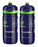 Elite Movistar Corsa Water Bottles - 550ml/ea (2 Pack)