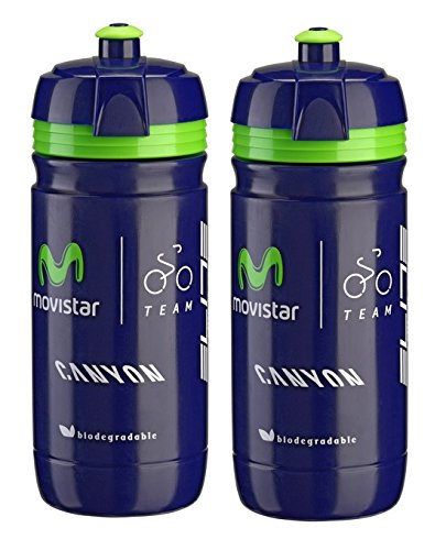 France De Water Tour Bottle (Elite Movistar Corsa Water Bottles - 550ml/ea (2 Pack))