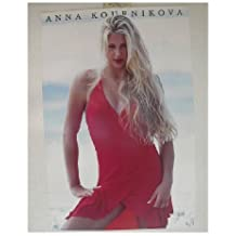 Anna Kournikova Poster Red Dress Beach Shot