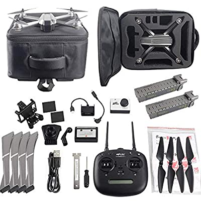 ElementDigital MJX Bugs 8 Pro Drone with 720P Camera Video FPV RC Drone Kit 6-Axis Gyro Brushless Motor, Quadcopter for Kids Beginners Adults, Angle/Acro 3DFlips, Bonus Battery Screen Goggles by ElementDigital