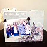 "Washington DC travel family vacation teacher school trip white house gift handmade magnetic picture frame holds 5"" x 7"" photo 9"" x 11"" size"
