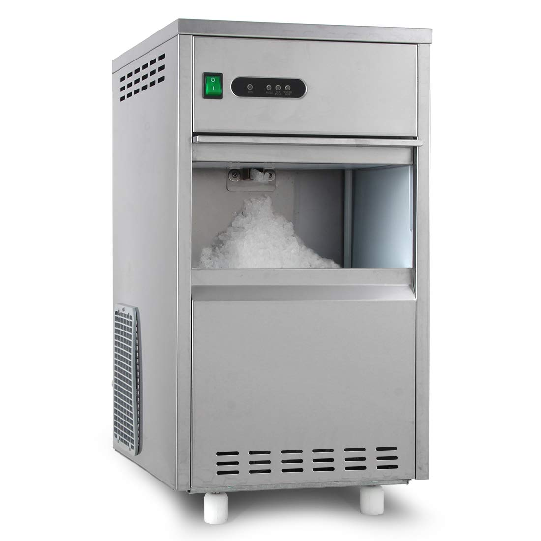 Snow Ice Maker Machine Crystal Clear Flake Automatic Crusher Making 44 Lbs/24 Hours,11 Lbs Storage Shaver AZICMA002045