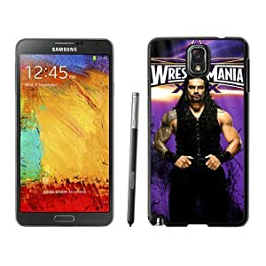 WWE roman reigns Black Samsung Galaxy Note 3 Screen Cover Case Grace and Durable Protective