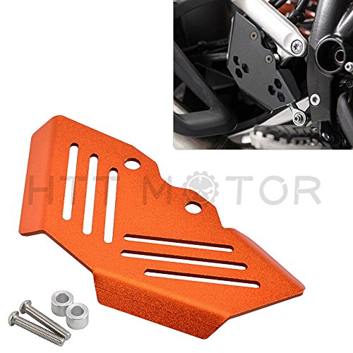 Rear Brake Master Guard Cylinder - HTTMT BRAKE002- CNC Rear Brake Master Cylinder Guard Protector Compatible with KTM 1290 Super Adventure R