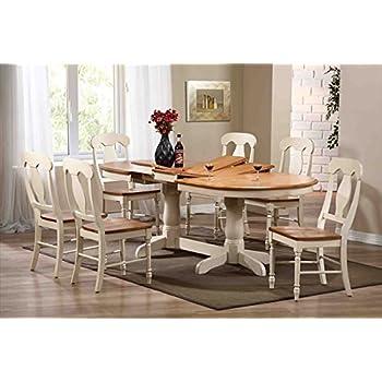 Amazon.Com - Iconic Furniture Oval Dining Table44; Caramel