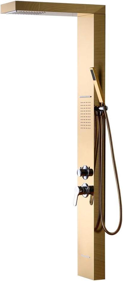 Jackeylove Ducha Sistema Local Tiranos Oro Ducha Pantalla Ducha Moda Ducha Fría Y Caliente Set: Amazon.es: Hogar