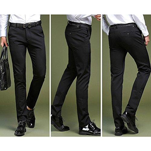 Costume Chino Zhhlaixing Casual Trousers Pantalons Bleu Business Slim Pants Pantalon Hommes Élégant De Dress Foncé Stretch YYIrq