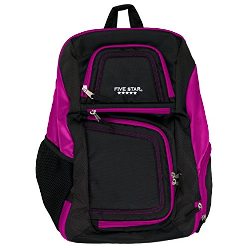 Five Star Backpack with Insulated Storage, Back Pack, Berry (73288)