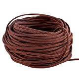GoFriend 25 Yards Suede Cord Lace Faux Leather Cord Jewelry Making Beading Craft Thread String- 3mm Width (Coffee)