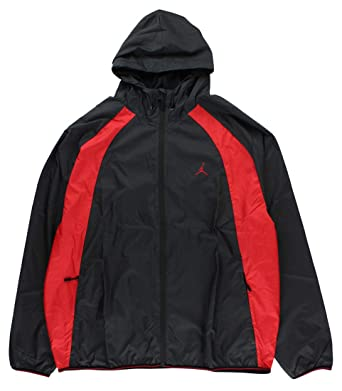 72f60586d5b98b Jordan Men s Air Nike Wings Windbreaker Jacket Black Red at Amazon ...