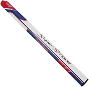 SuperStroke New Traxion Flatso 17 White/Red/Blue Golf Putter Grip