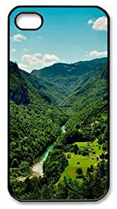 iPhone 4S Case and Cover -Small village PC case Cover for iPhone 4 and iPhone 4s ¡§CBlack