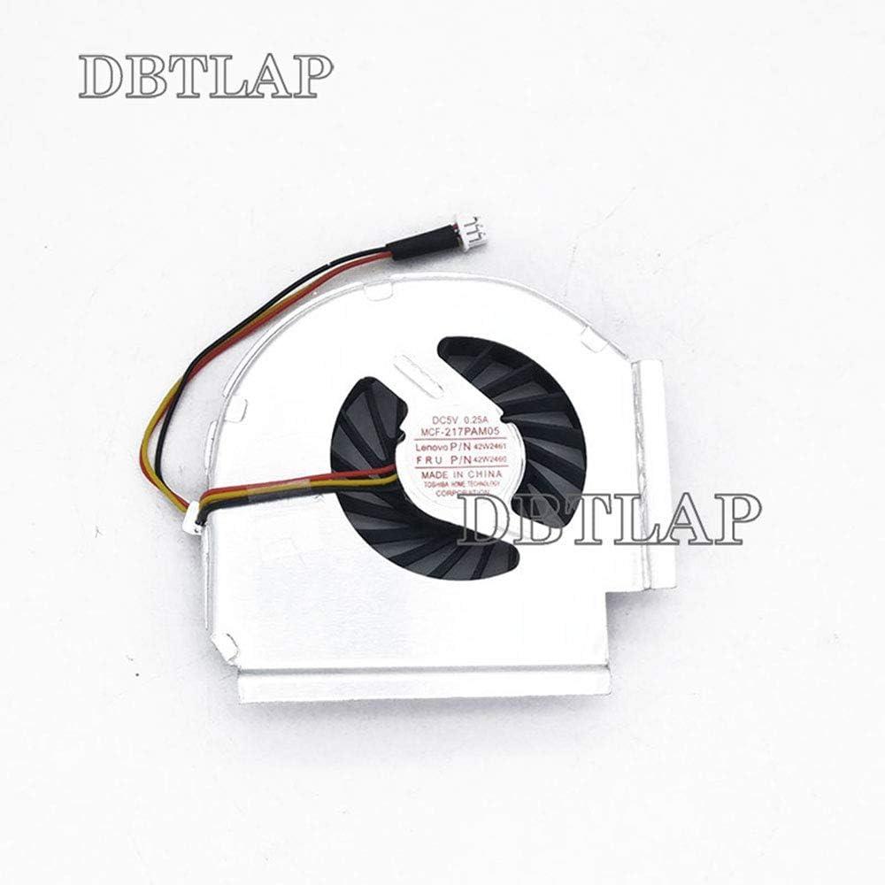 DBTLAP Ventilador de la CPU del Ordenador portátil para Lenovo IBM T61 T61P MCF-217PAM05 3 Pin 42W2461 42W2460