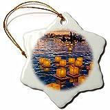3dRose Lantern Floating Festival, Honolulu, Hawaii, USA US12 DPB2761 Douglas Peebles Snowflake Ornament, 3''