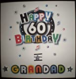 Product review for Happy Birthday Card -Grandad 60th Birthday - Handmade Card