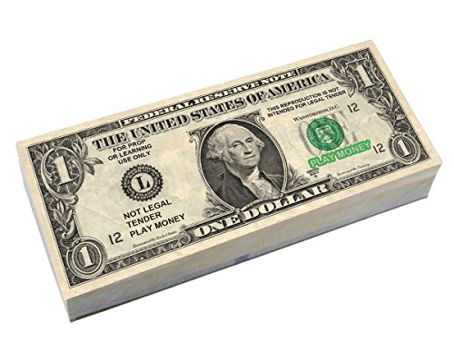 Best Real Looking Play Money JUMBO SIZE Four Packs of $1 Bills