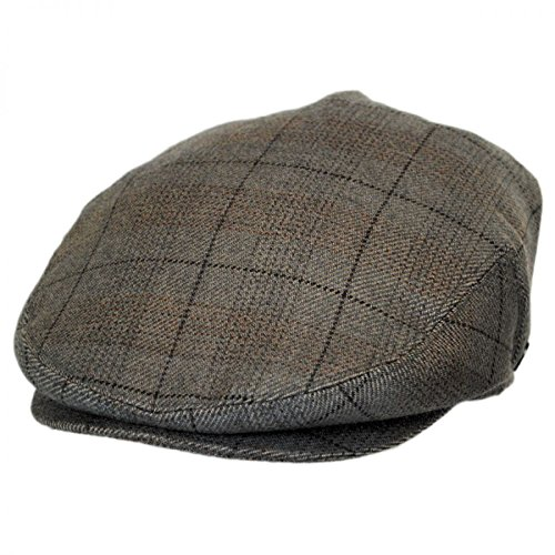 Staple Plaid Cashmere Ivy Cap (Large) Gray ()