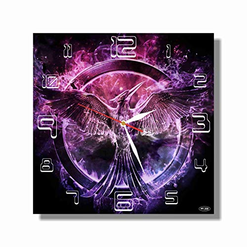 Art time production The Hunger Games 11.4'' Handmade Wall Clock (Acrylic Glass) - Get Unique décor for Home or Office – Best Gift Ideas for Kids, Friends, Parents and Your Soul Mates for $<!--$30.00-->