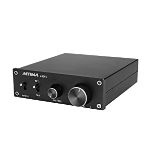 AIYIMA 300W Subwoofer Amplifier TPA3255 HiFi Mono Audio Power Amplifier Class D Amp NE5532 Sub Plate Amplifier with Bass Treble Adjust DC 24V-35V TPA3255(Black-300W)