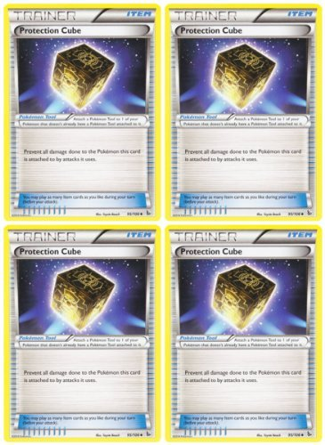 x4 Protection Cube (XY Flashfire #95/106) Pokemon Card Playset [Trainer-Item]